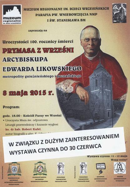 100 rocznica śmierci Arcybiskupa Edwarda Likowskiego