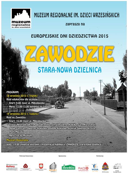 EUROPEJSKIE DNI DZIEDZICTWA 2015 ZAWODZIE STARA-NOWA DZIELNICA