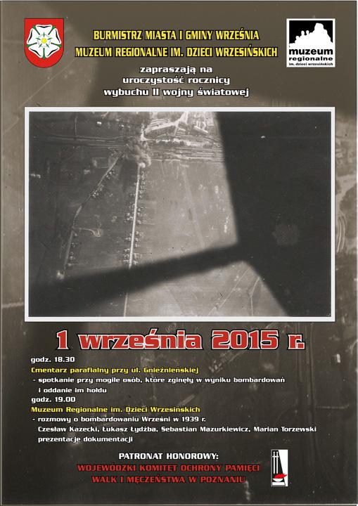Uroczystość rocznicy wybuchu II wojny światowej